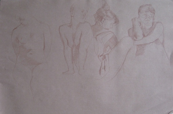 Life drawing, dessin, École d'art Pointe-Saint-Charles Art School
