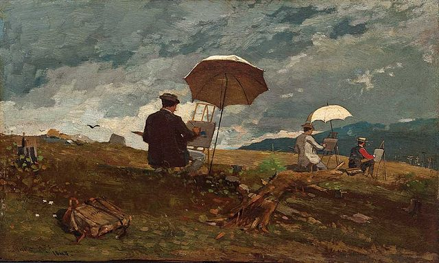 640px Winslow Homer   Artists Sketching In The White Mountains