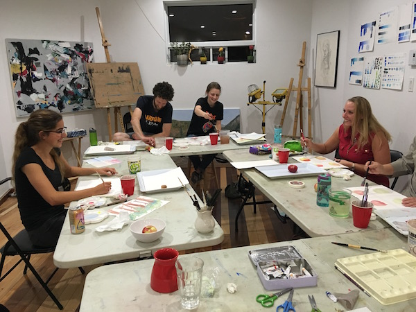 Happy art students Classes École d'art Pointe-Saint-Charles Art School